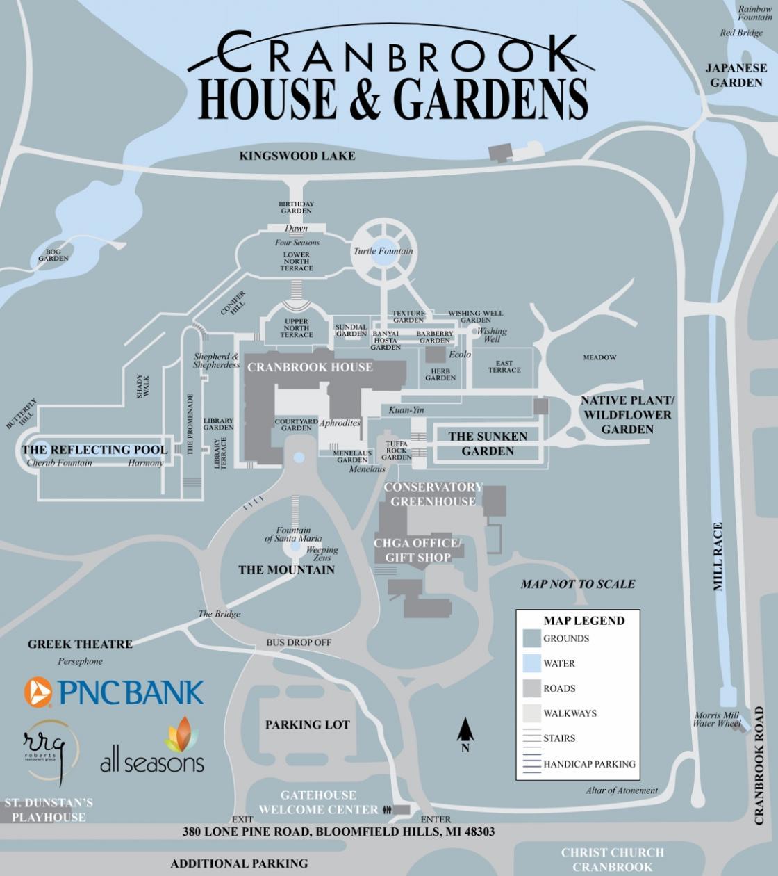 House Garden Map >> Tour Info Cranbrook House And Gardens