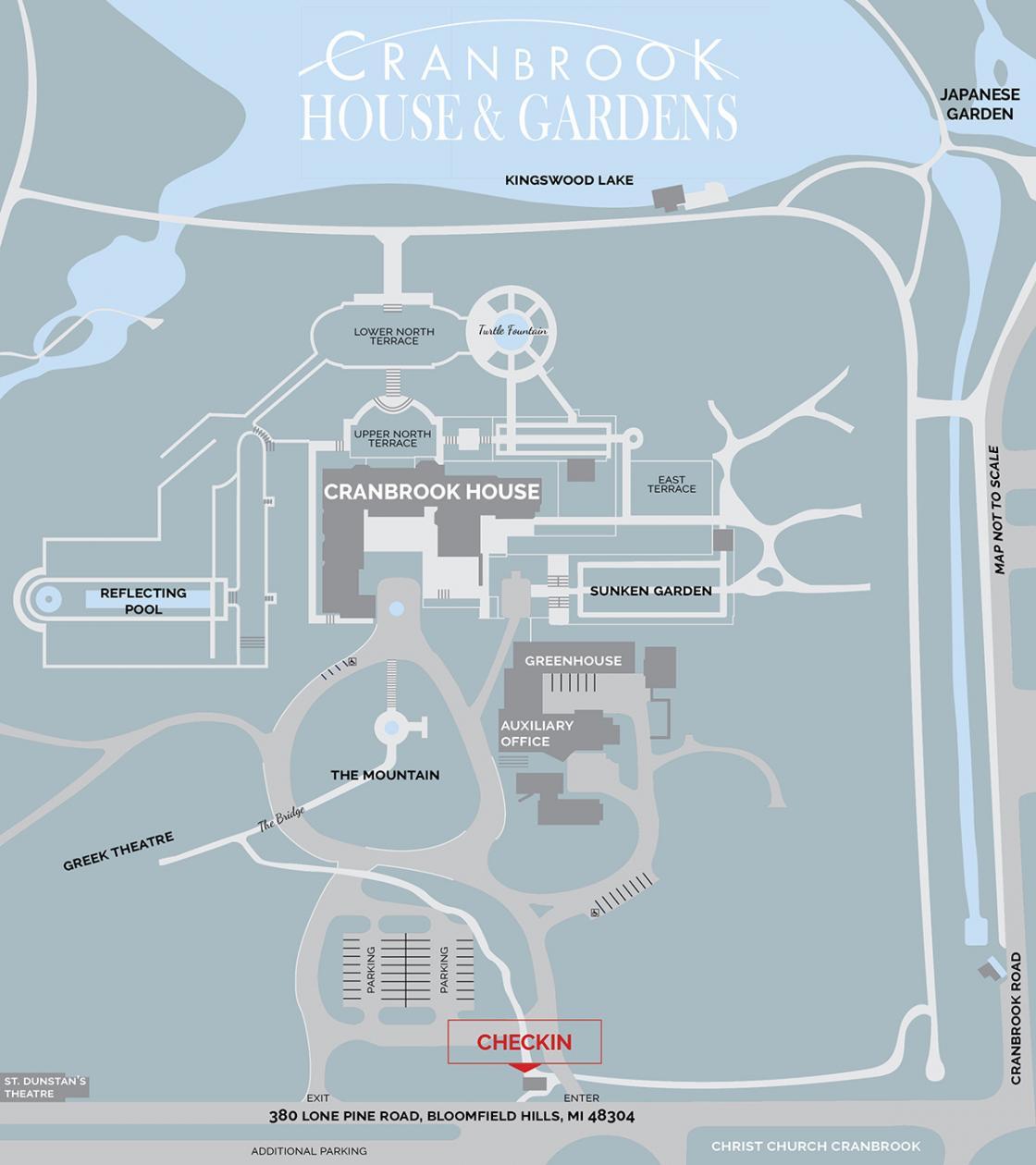 Cranbrook Gardens Map
