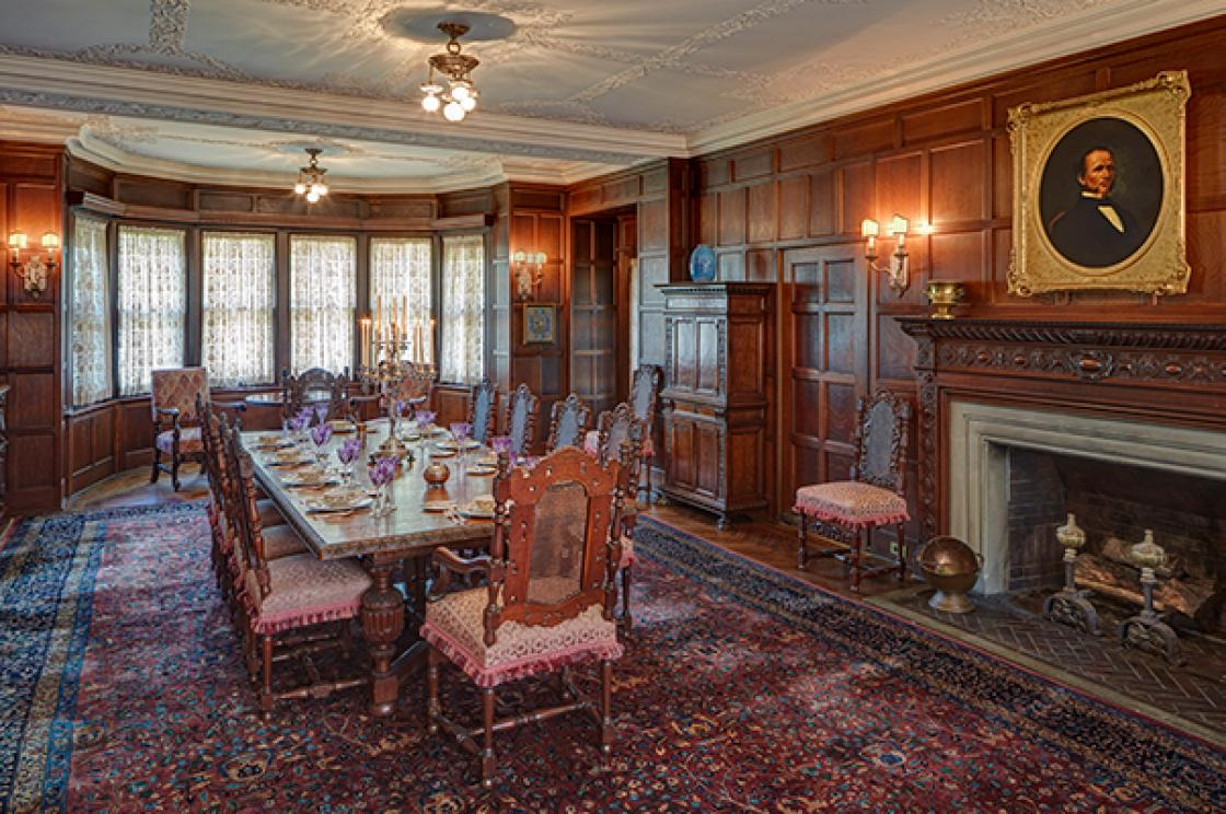 Photograph of the Cranbrook House Dining Room by James Haefner.