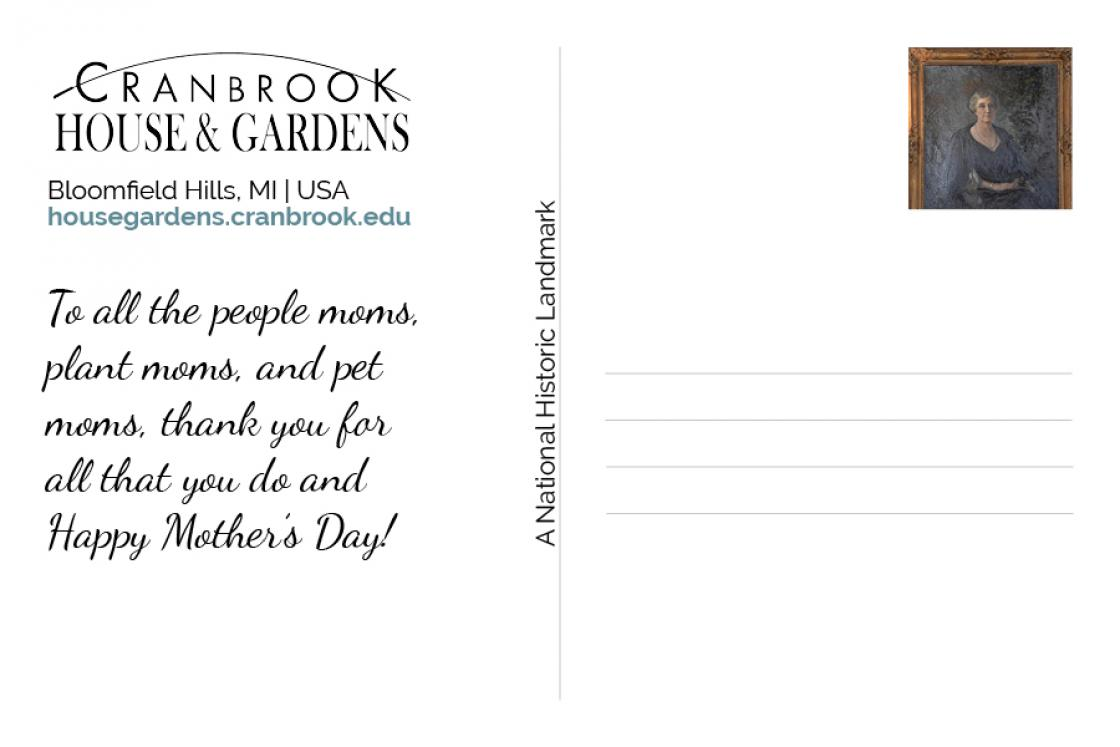 Cranbrook Mother's Day 2020 - Postcard - Back Side