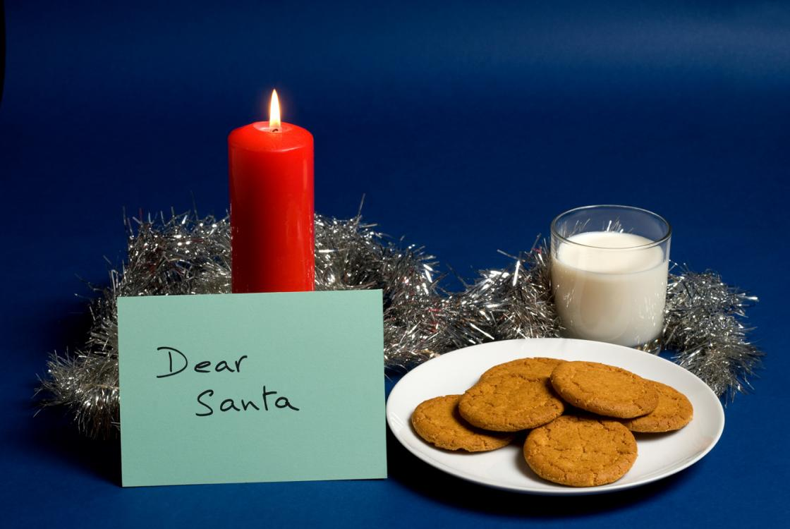Photograph of an envelope addressed to Santa