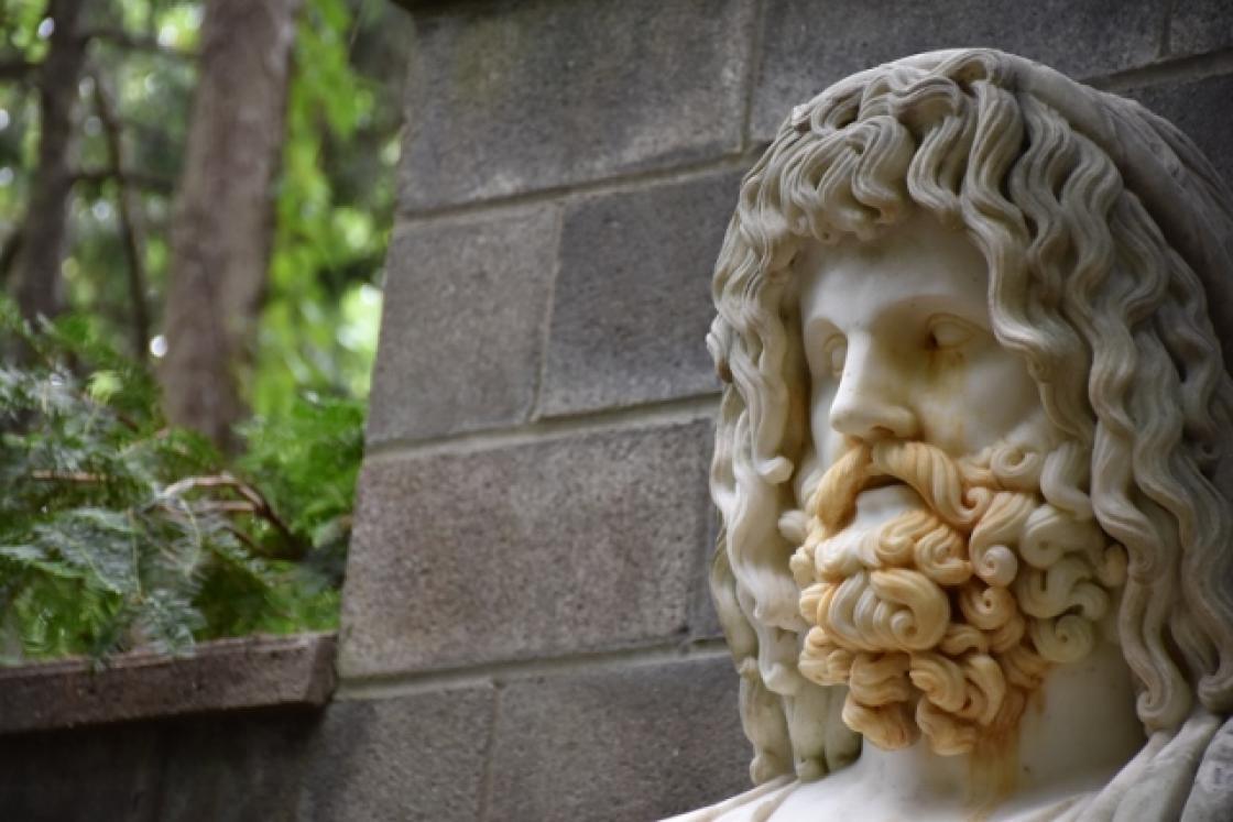 Photograph of Weeping Zeus at Cranbrook House & Gardens, Summer 2017.
