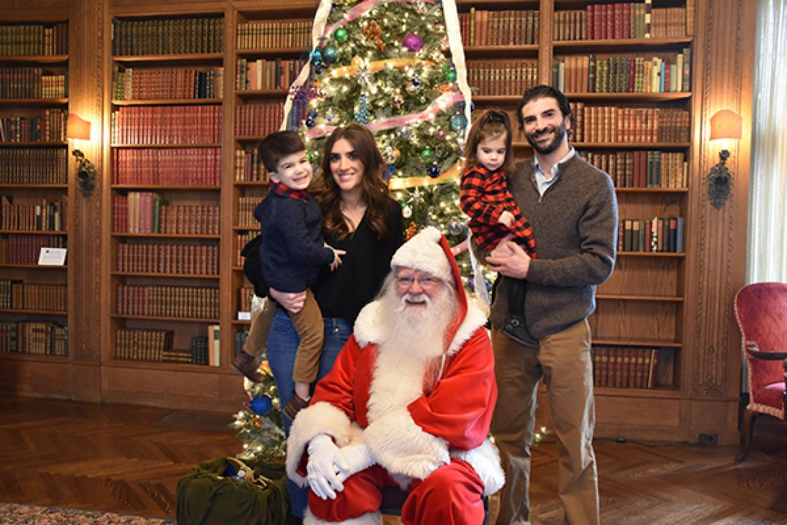 Santa at Cranbrook House with Family 2017