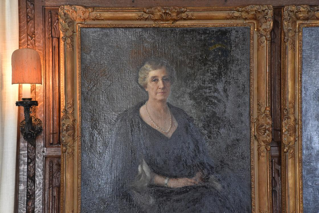 Portrait of Ellen Scripps Booth in Cranbrook House Oak Room
