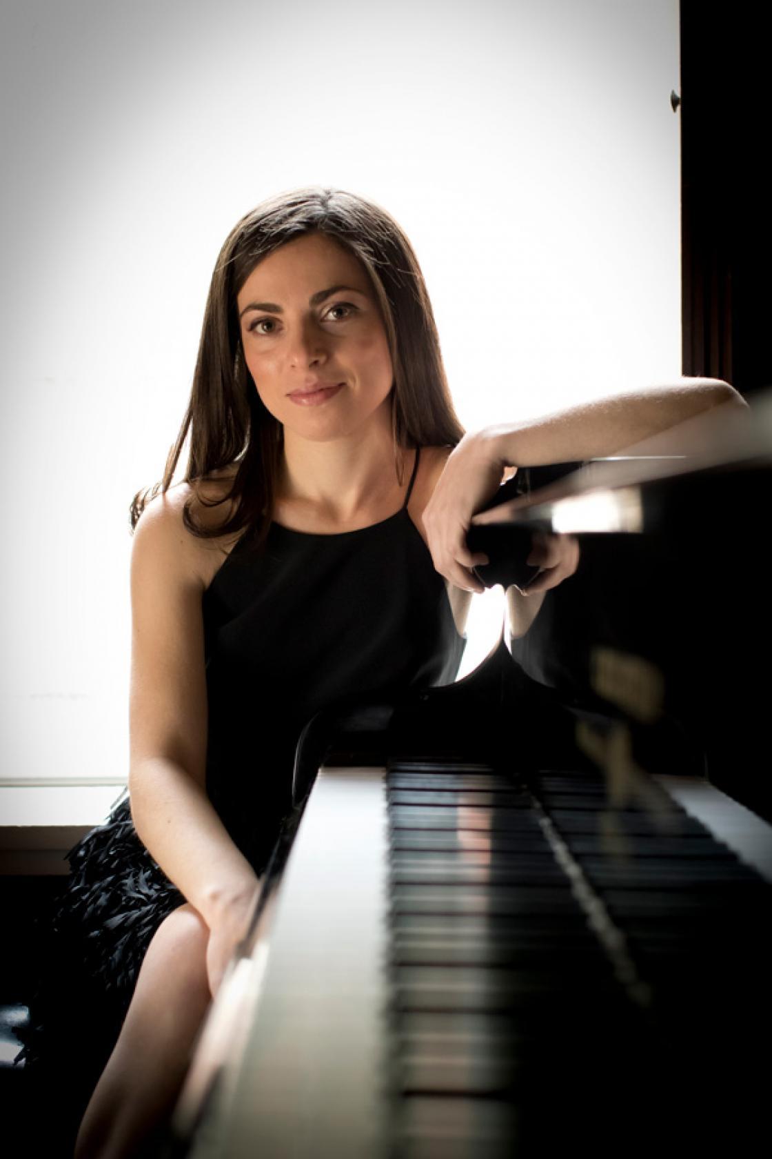 Photograph of pianist Natalia Kazaryan by Ryan Brandenberg.